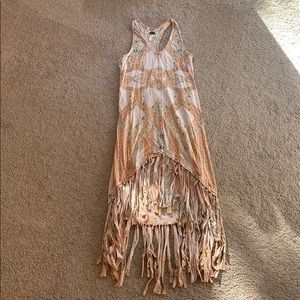 We The Free boho tank dress with fringe